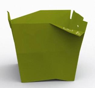 wastebasket, green