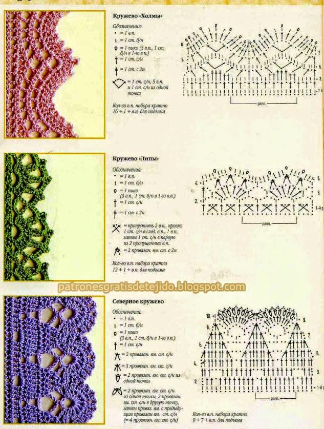 3 puntillas hermosas al crochet