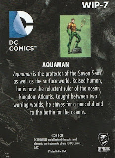 Back of New 52 DC Comics trading card WIP-7 Aquaman