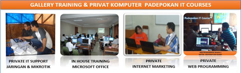 Training, Private, Les, Kursus Komputer,  Online Training, dan IT Solution