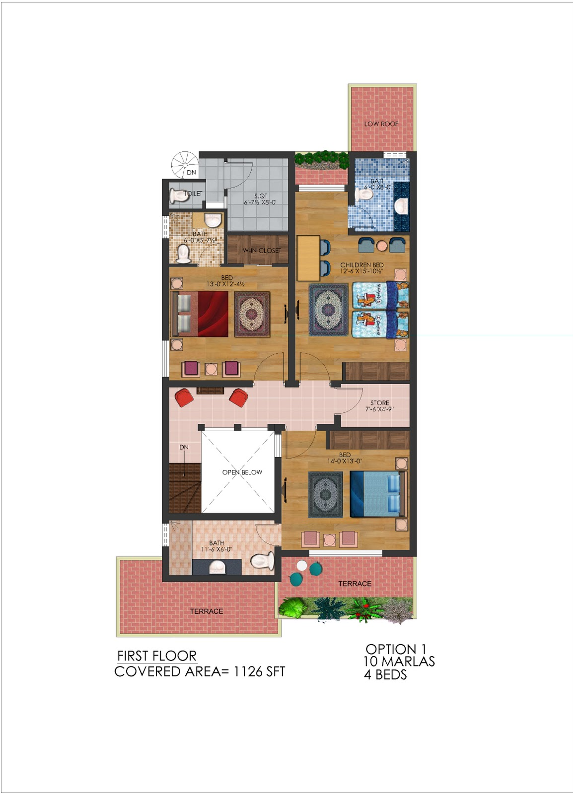 10 Marla House Plan http://frontelevation.blogspot.com/2011/11/10