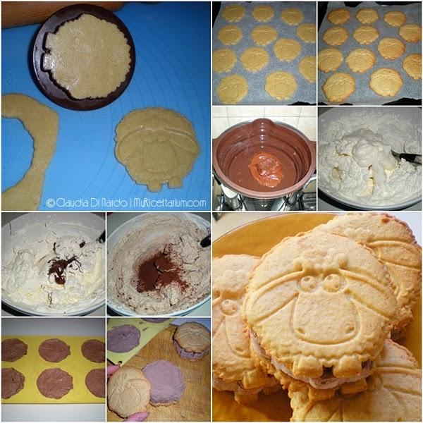 Biscotto gelato al cioccolato