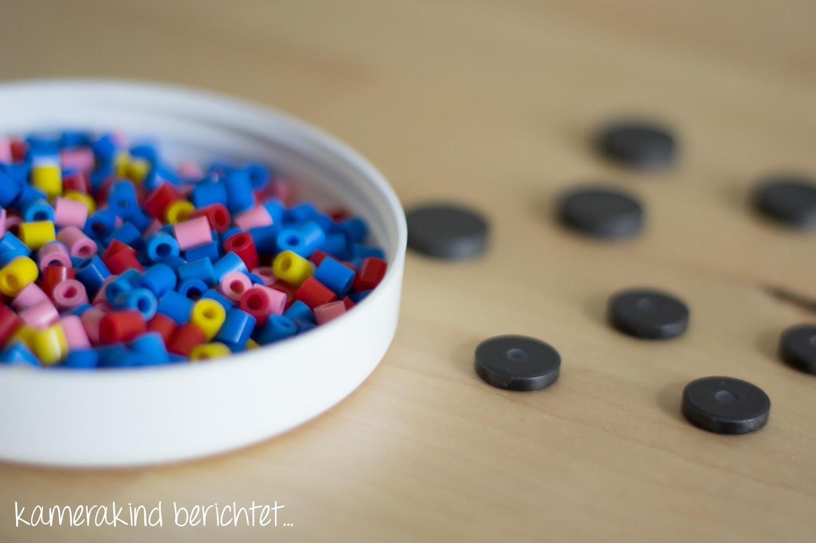 Bügelperlen und Magnete