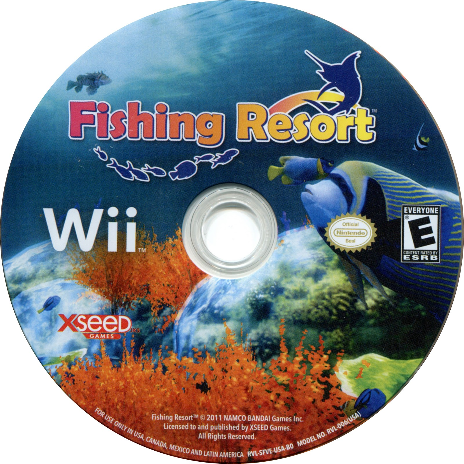 Label Fishing Resort Wii