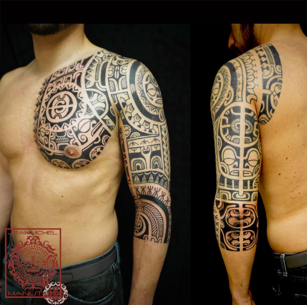 Polynésien Corps en folie photos et images de tatouages  - image tatouage polynesien