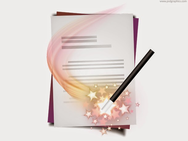 Document Wizard Icon PSD
