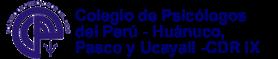 Colegio de Psicólogos de Huánuco,  Pasco y Ucayali - CDR IX