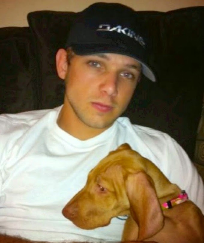 max thieriot with dog