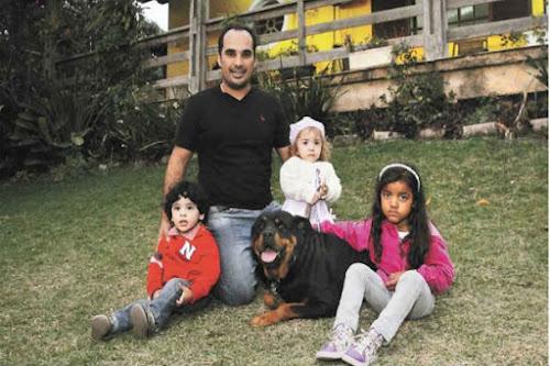 Rottweiler é um cão ideal para casas e sempre pronto para defender o dono