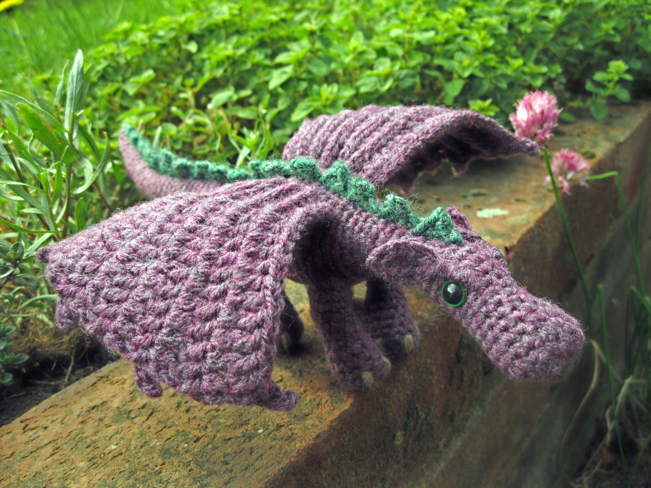 Dragon Wings Knitting Pattern : LucyRavenscar - Crochet Creatures: Fierce Little Dragon