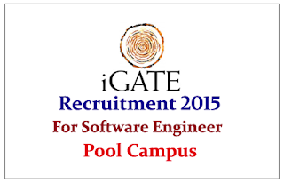 iGATE Recruitment 2015 freshers for the post of Software Engineers