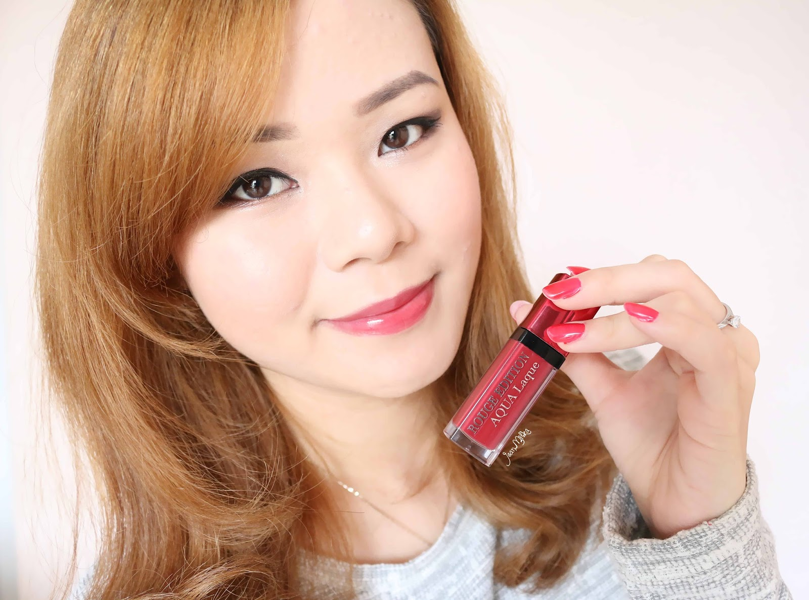 bourjois, bourjois lipstick, rouge edition aqua laque, bourjois aqua laque, lip lacquer, review, jean milka, jeanmilka