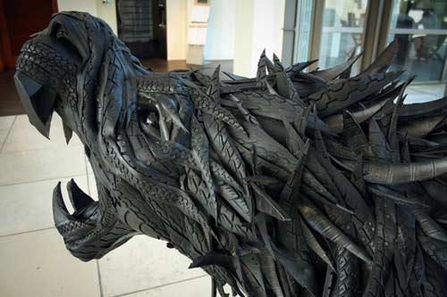 dishfunctional designs upcycled recycled tires art