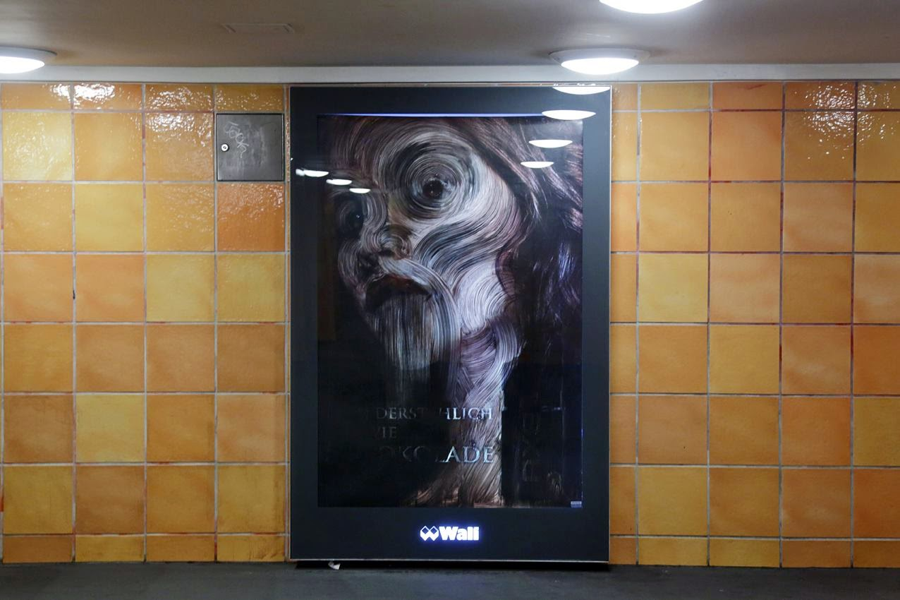 Vermibus recently stopped by the Rosenthaler Platz subway station in Berlin, Germany where he installed a series of three new pieces.