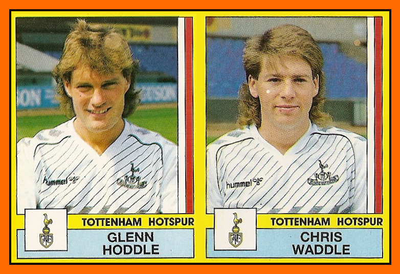 Glenn+HODDLE+et+Chris+WADDLE+Panini+Tottenham+Hotspur