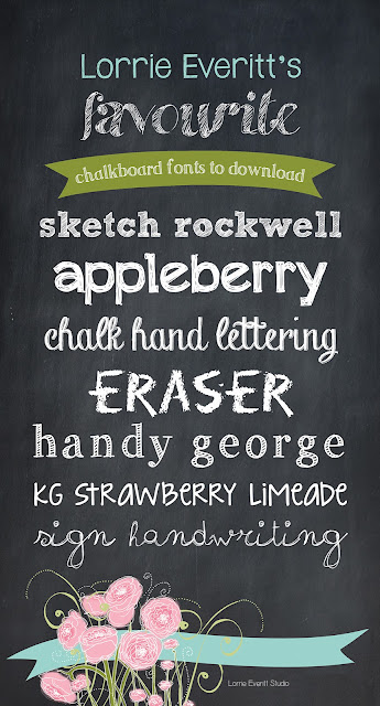 10 chalkboard fonts from Lorrie Everitt Studio | lorrieeverittstudio.blogspot.ca