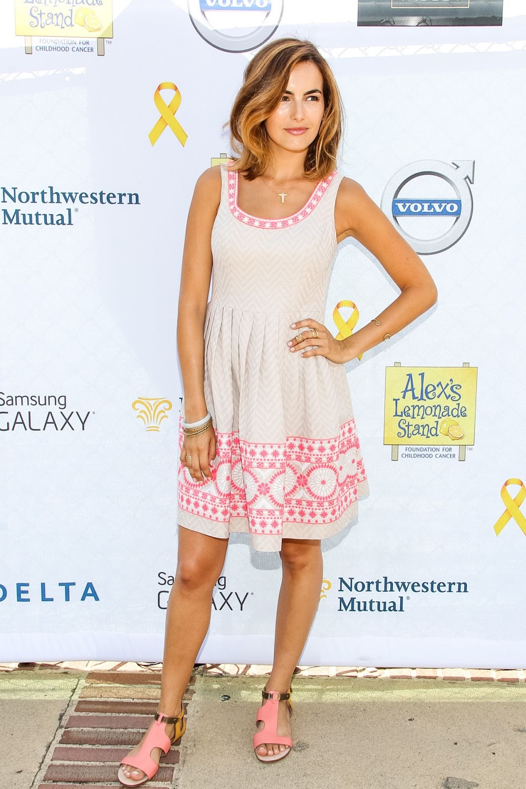 Camilla Belle flaunts a flirty frock at the 2014 LA Loves Alex's Lemonade Event at UCLA