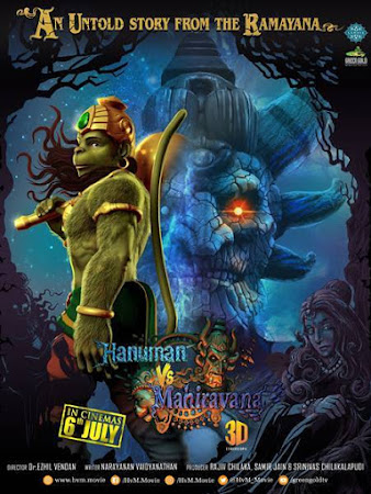 Poster Of Hindi Movie Hanuman vs. Mahiravana 2018 Full HD Movie Free Download 720P Watch Online