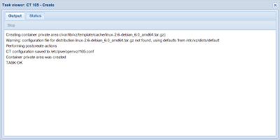 Proxmox task viewer