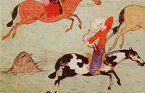Atlı okçuluk Türk atlı okçusu biniş stili