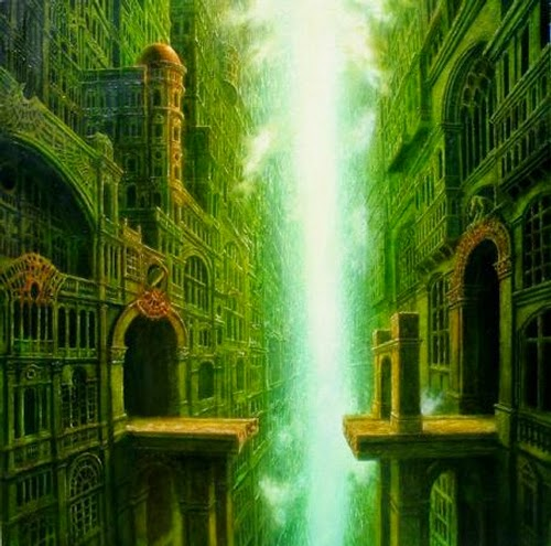 01-Street-of-the-Immortal-Marcin-Kołpanowicz-Painting-Architecture-in-Surreal-Worlds-www-designstack-co