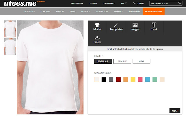Mudahnya Design Kaos di Utees.me