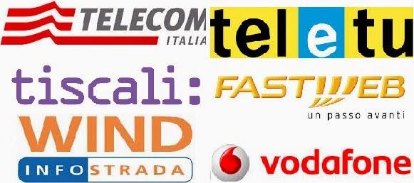 confronto tariffe telefono e internet di telecom, vodafone, fastweb,teletu, tiscali, wind infostrada
