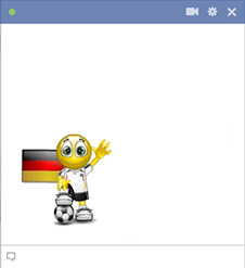 Germany football smiley for Facebook