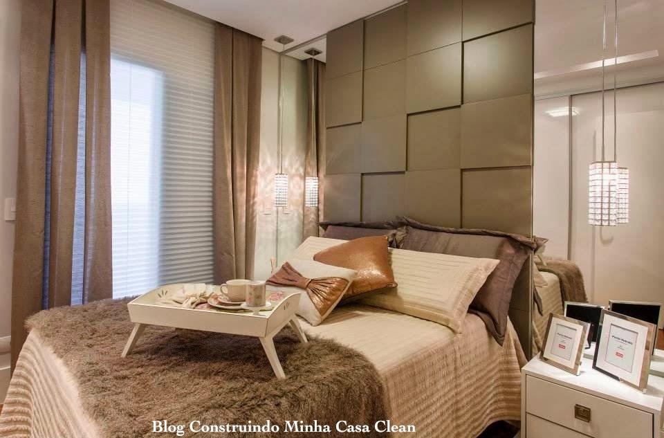 Construindo minha casa clean top 10 quartos de casal - Cortinas para cama ...
