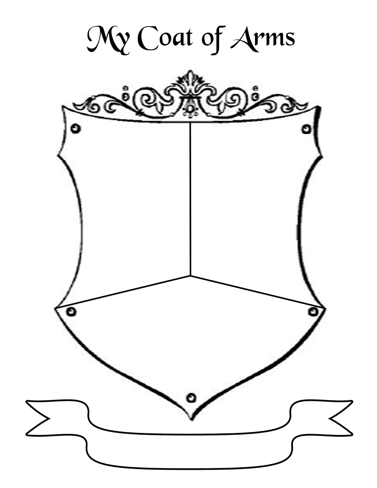 Coat Of Arms Template Pdf First  I had them come up with