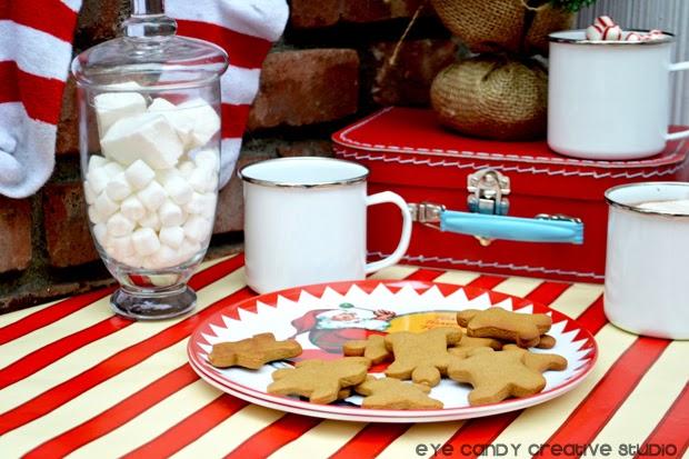 vintage santa, cocoa bar, the night before christmas