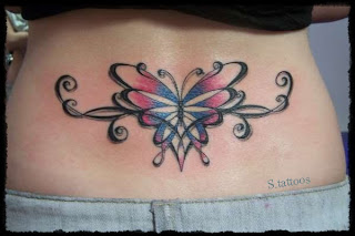 Lower Back Butterfly Tattoos Design - Lower Back Butterfly Tattoos Design Pictures
