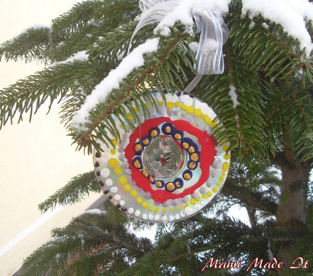 Recycle Your CDs - Make Christmas Ornaments - Mach Baumschmuck daraus