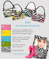 Zebra Print Purses on Sale! Zoe Classic Shells