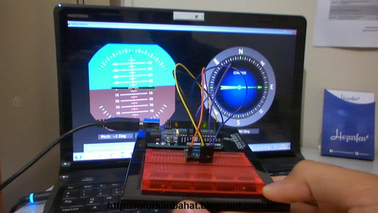 M furkan bahat artificial horizon and compass using