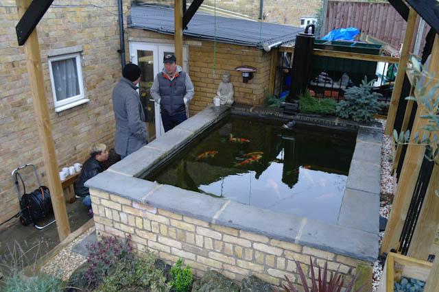 First pond visit 2012 kangei koi club for Garden pond electrics