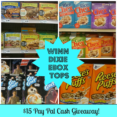 Winn Dixie eBox Tops: $15 Pay Pal cash Giveaway