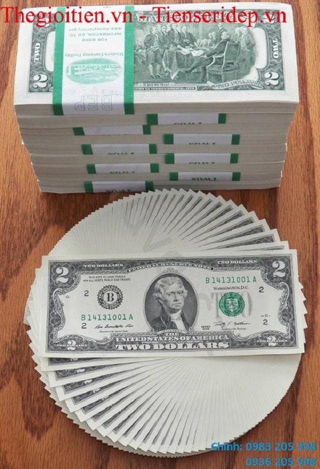 đổi tiền 2 usd 2003