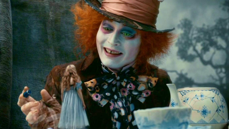 Jonny Depp in Jonny Alice in wonderland