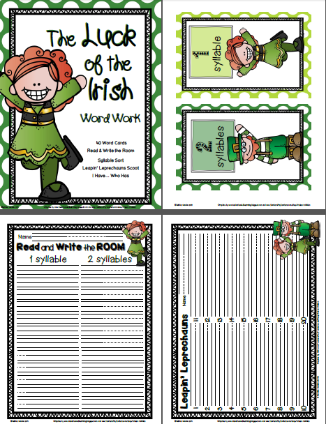 https://www.teacherspayteachers.com/Product/The-Luck-of-the-Irish-Word-Work-1154900