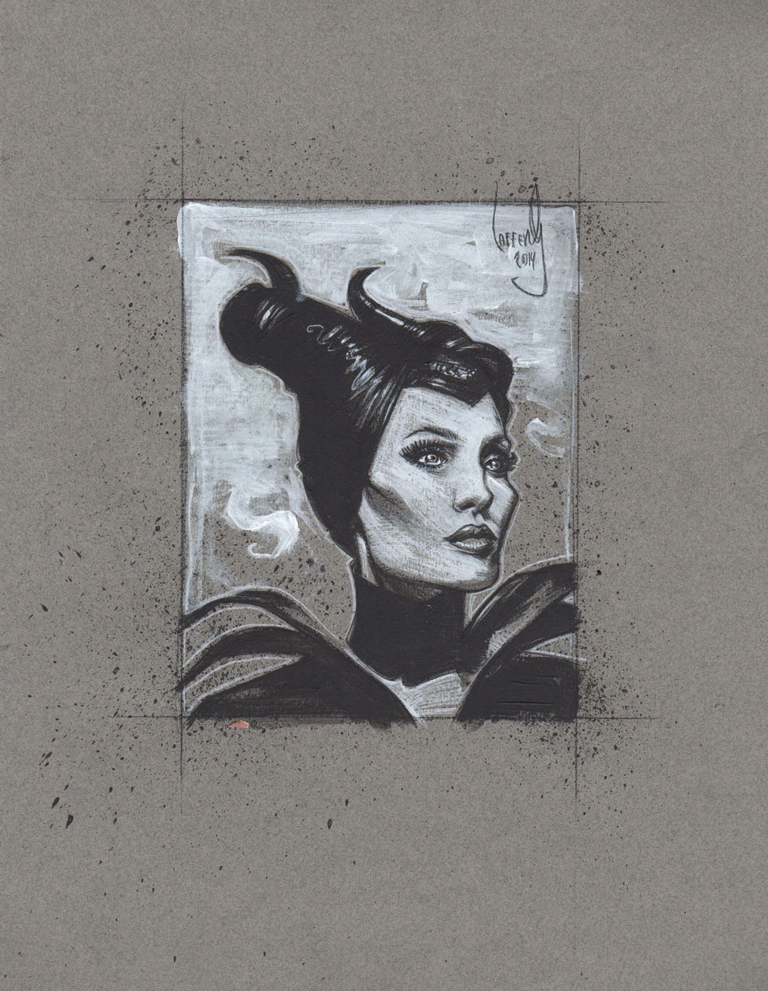 Angelina Jolie as Maleficent, Artwork is Copyright © 2014 Jeff Lafferty
