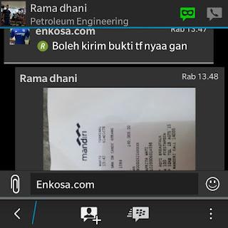 Konfirmasi pembayaran jersey di enkosa sport oleh Rama Dhani di enkosa sport toko online jersey bola terpercaya lokasi di jakarta pasar tanah abang