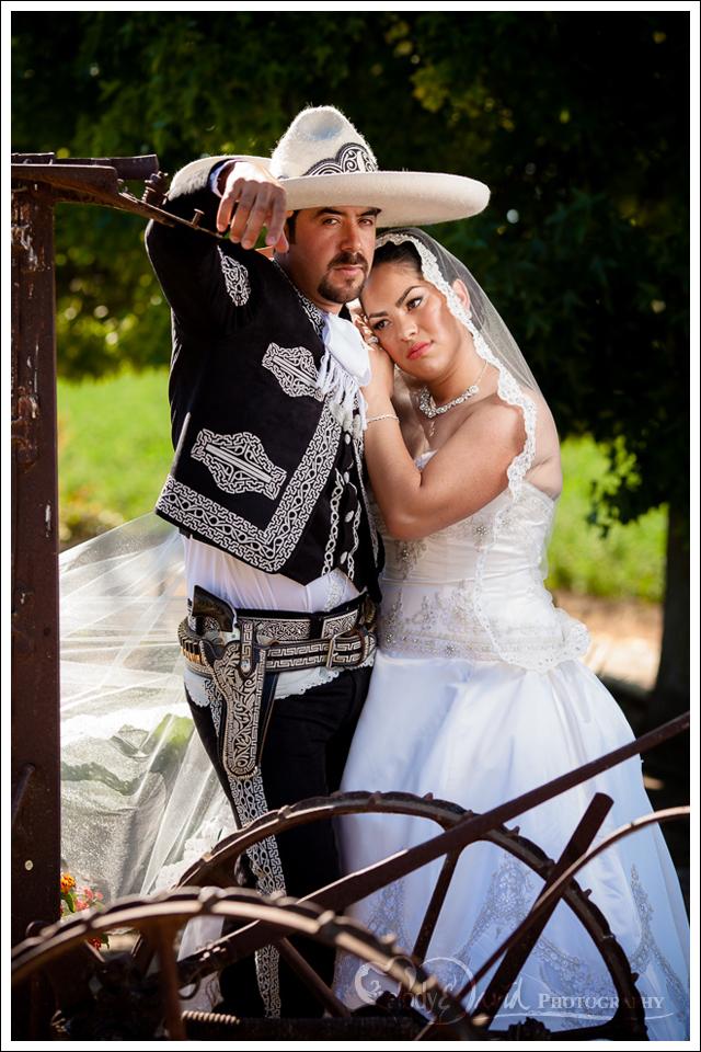 Hispanic bridals vaquero sombrero