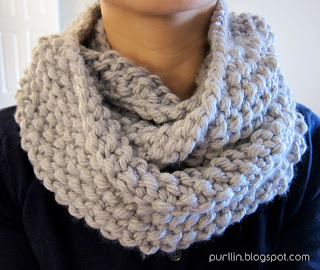 Pip Easy Cable Cowl Neck Scarf Chunky Yarn Knitting Pattern