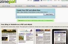 Zinepal: para convertir el contenido de un blog ó un sitio web en una revista en pdf ó un libro electrónico en ePub