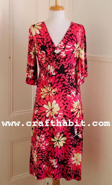 1970's Wrap Dress Free Sewing Pattern
