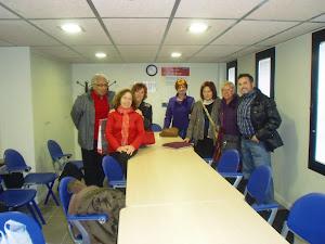 Con el grupo de escritura creativa de Barcelona-Sants.