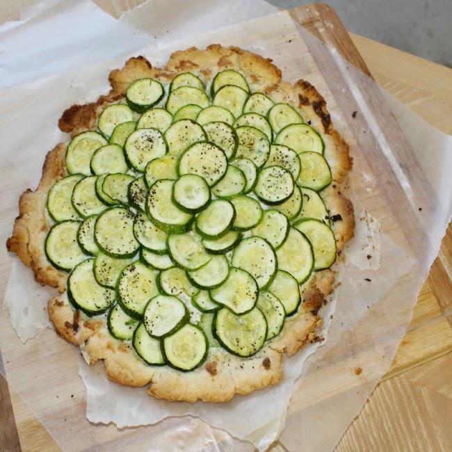 zucchini and cheese tart