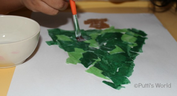 Christmas Tree Preschool Kids Craft