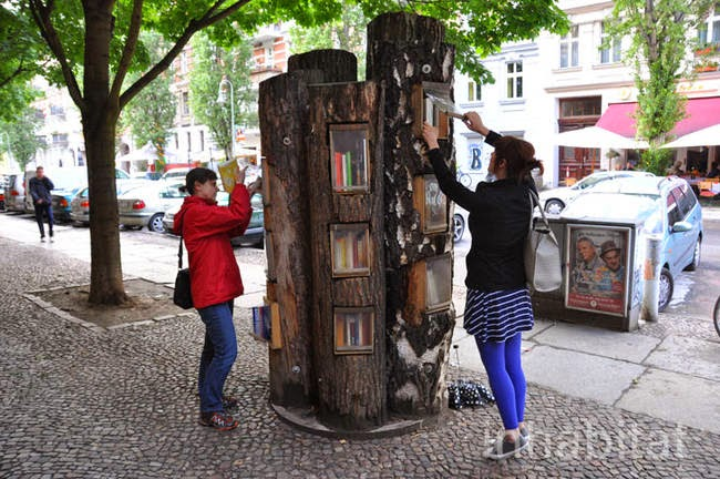 This is a really awesome idea, and a great way for books and reading to become more central in communities. - A Neighborhood In Germany Has An Awesome Book Exchange Inside Of Trees